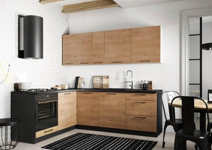 Rohová kuchyňa Natali ľavý roh 230x180 cm (dub lefkas).