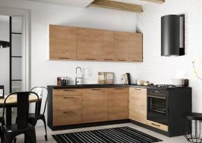 Rohová kuchyňa Natali pravý roh 230x180 cm (dub lefkas)