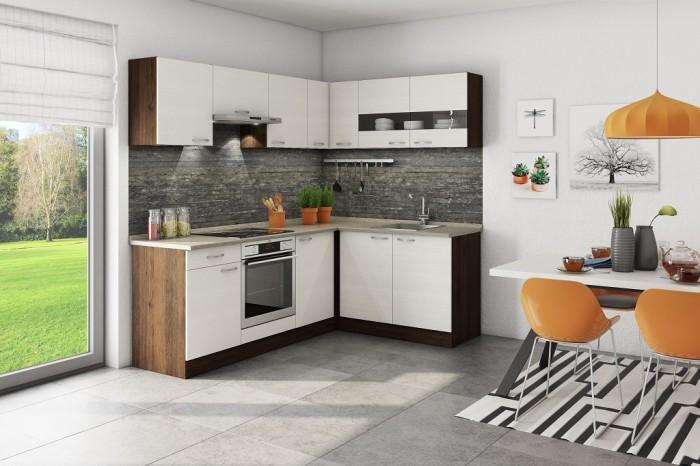Rohová kuchyňa Nina pravý roh 220x160 cm - II. akosť