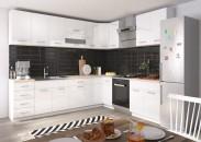 Rohová kuchyňa Rio ľavý roh 270x170 cm (biela lesklá/dub sonoma)