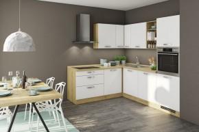 Rohová kuchyňa Sabrina ľavý roh 240x200 cm (biela/dub arlington)