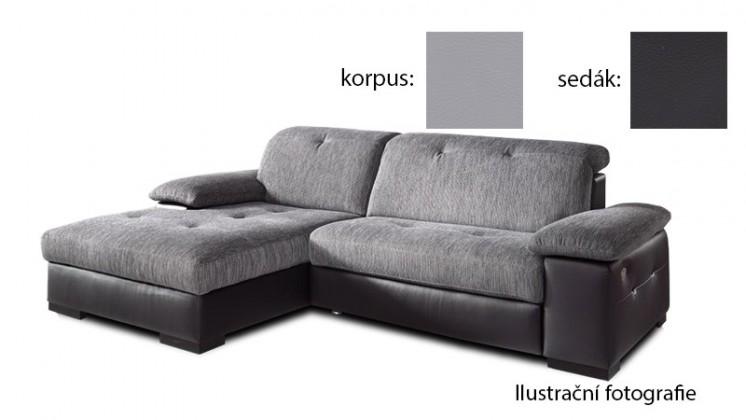 Rohová Livorna - lavá (k:pulse-light grey d201/m:pulse-black d209)