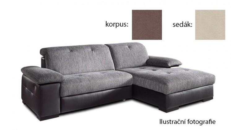 Rohová Livorna - pravá (k:new lucca-brown p700/m:new lucca-beige p702)