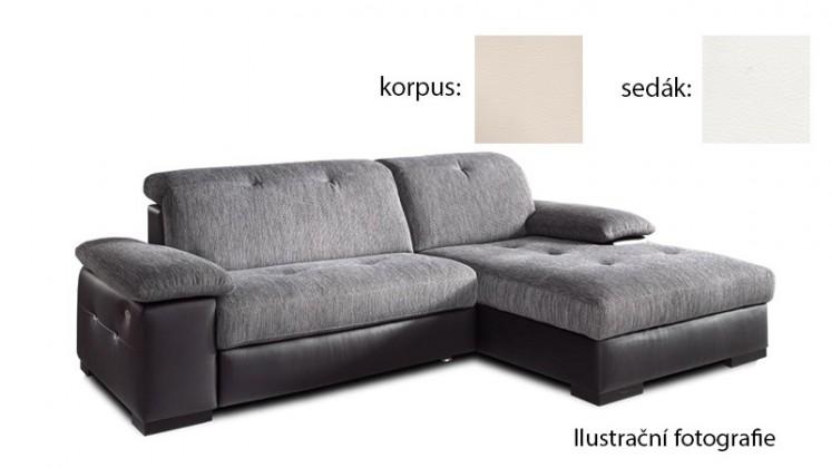 Rohová Livorna - pravá (k:pulse-beige d243/m:pulse-white d200)