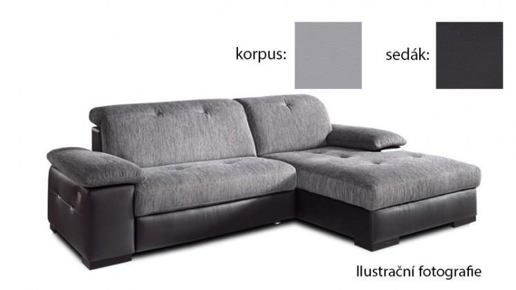 Rohová Livorna - pravá (k:pulse-light grey d201/m:pulse-black d209)