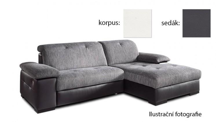 Rohová Livorna - pravá (k:pulse-white d200/m:pulse-fango d208)