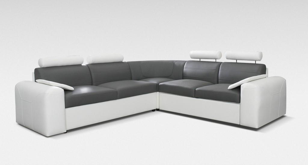 Rohová Mega-XL - roh ľavý (poťahový materiál - syntetická koža/dekor korpusu - cayenne 1115)