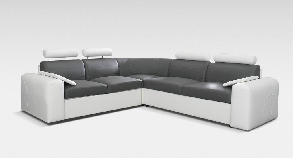 Rohová Mega-XL - roh pravý (poťahový materiál - syntetická koža/dekor korpusu - cayenne 1115)