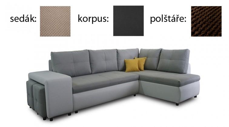 Rohová Porto-pravá(dot 22-sedák / madryt new 125-korpus / dot 28-polšáře
