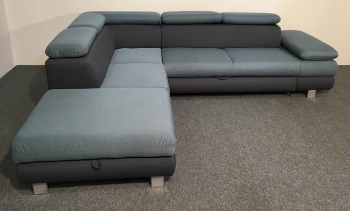 Rohová Rohová sedačka rozkladacia Canton ľavý roh ÚP modrá, sivá