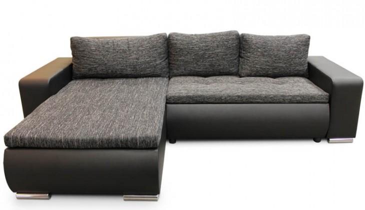 Rohová Rohová sedačka rozkladacia Enro univerzálny roh ÚP čierna, sivá