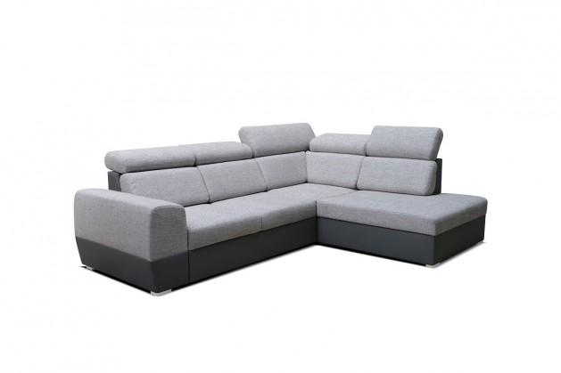Rohová Rohová sedačka rozkladacia Matrix pravý roh ÚP sivá