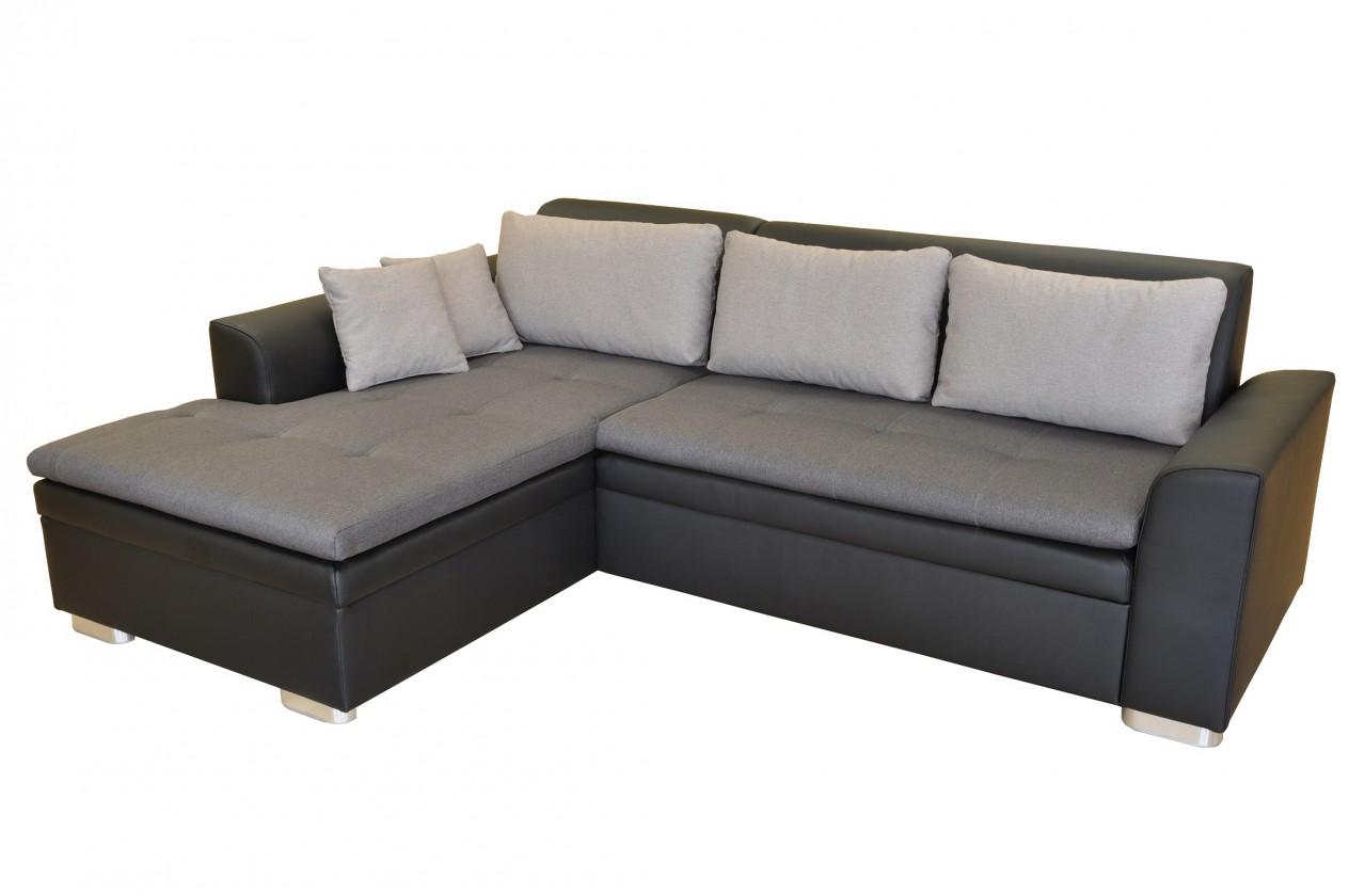 Rohová Rohová sedačka rozkladacia Vanilla ľavý roh ÚP čierna, sivá
