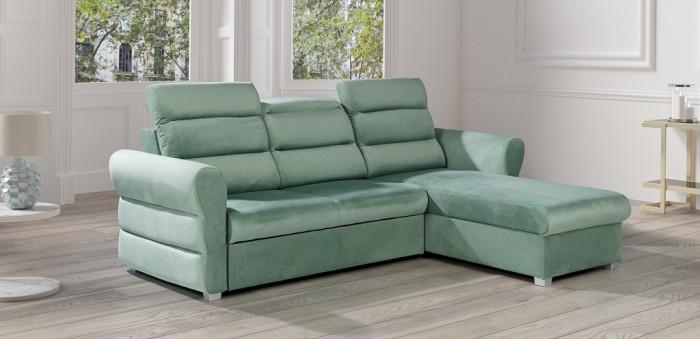 Rohová sedačka rozkladacia Argol pravý roh ÚP zelená