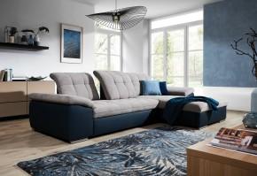 Rohová sedačka rozkladacia Ateca pravý roh ÚP sivá, modrá