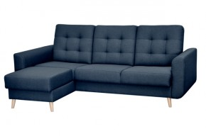 Rohová sedačka rozkladacia Avanti ľavý roh ÚP modrá