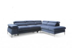 Rohová sedačka rozkladacia Berg pravý roh ÚP modrá