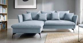 Rohová sedačka rozkladacia Bilto ľavý roh ÚP modrá