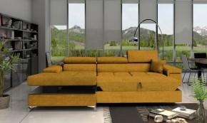 Rohová sedačka rozkladacia Bondi ľavý roh ÚP žltá