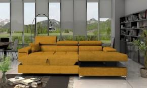 Rohová sedačka rozkladacia Bondi pravý roh ÚP žltá