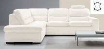 Rohová sedačka rozkladacia Bono ľavý roh biela