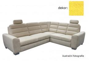 Rohová sedačka rozkladacia Fenix pravý roh ÚP žltá - II. akosť