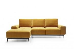 Rohová sedačka rozkladacia Forsa ľavý roh ÚP žltá