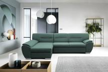 Rohová sedačka rozkladacia Fortino ľavý roh ÚP zelená