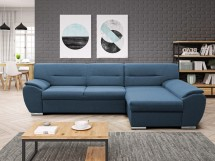 Rohová sedačka rozkladacia Fortino pravý roh ÚP modrá