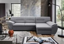 Rohová sedačka rozkladacia Fortino pravý roh ÚP sivá