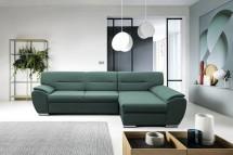 Rohová sedačka rozkladacia Fortino pravý roh ÚP zelená