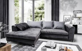 Rohová sedačka rozkladacia Genoa ľavý roh ÚP sivá, čierna