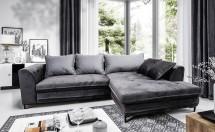 Rohová sedačka rozkladacia Genoa pravý roh ÚP sivá, čierna