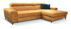 Rohová sedačka rozkladacia Gino pravý roh ÚP hnedá