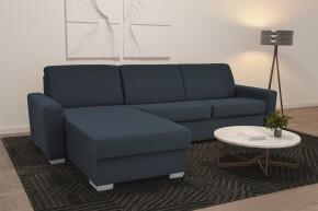 Rohová sedačka rozkladacia Leka ľavý roh ÚP modrosivá