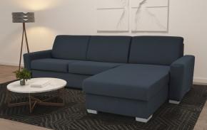 Rohová sedačka rozkladacia Leka pravý roh ÚP modrosivá
