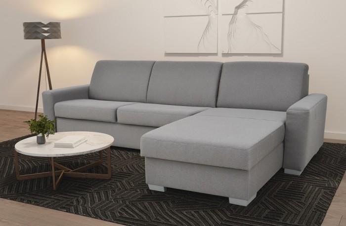 Rohová sedačka rozkladacia Leka pravý roh ÚP sivá