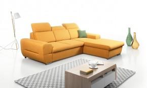 Rohová sedačka rozkladacia Lenti pravý roh ÚP žltá
