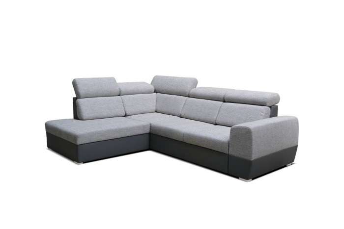 Rohová sedačka rozkladacia Matrix ľavý roh ÚP sivá