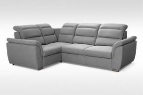 Rohová sedačka rozkladacia Mediolan ľavý roh ÚP sivá