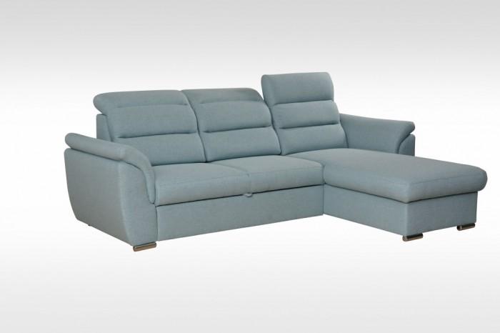 Rohová sedačka rozkladacia Mediolan pravý roh ÚP modrá