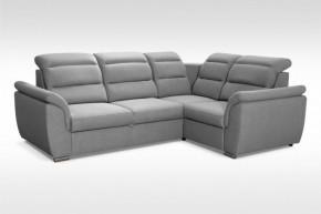 Rohová sedačka rozkladacia Mediolan pravý roh ÚP sivá