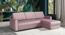 Rohová sedačka rozkladacia Morgat pravý roh ÚP ružová