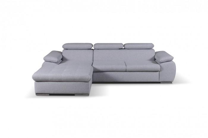 Rohová sedačka rozkladacia Padua ľavý roh ÚP sivá