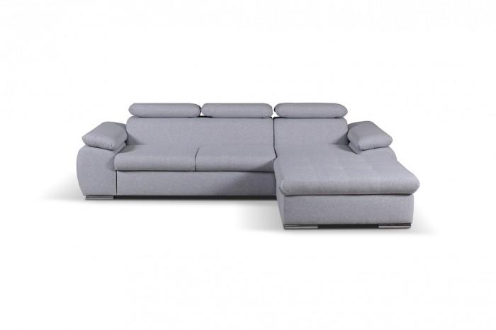 Rohová sedačka rozkladacia Padua pravý roh ÚP sivá