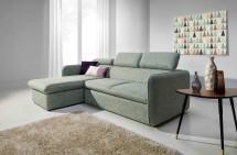 Rohová sedačka rozkladacia Slim ľavý roh ÚP zelená