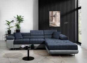 Rohová sedačka rozkladacia Tanami pravý roh ÚP modrá