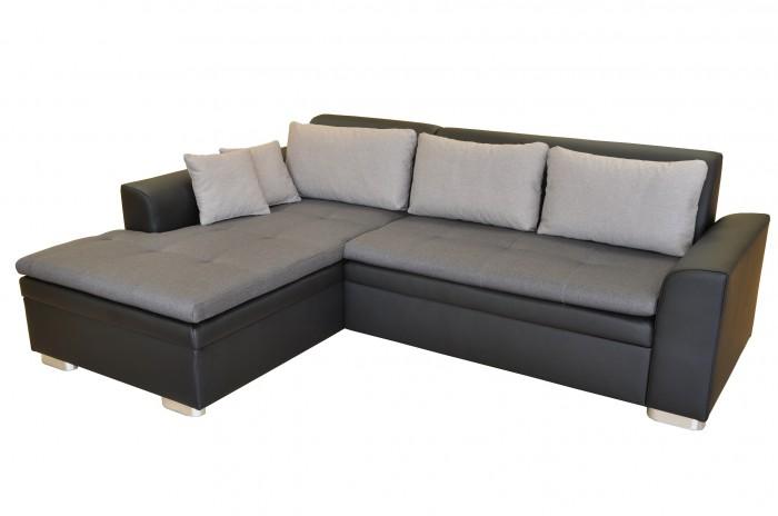 Rohová sedačka rozkladacia Vanilla ľavý roh ÚP čierna, sivá