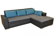 Rohová sedačka rozkladacia Vanilla pravý roh ÚP čierna,sivá,modrá