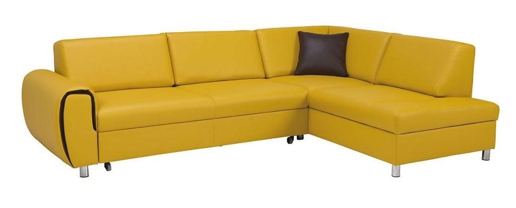 Rohová sedačka rozkladacia Vigo pravý roh ÚP žltá